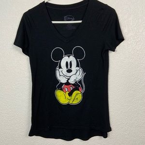 Disney Mickey Black Short Sleeve Shirt Small